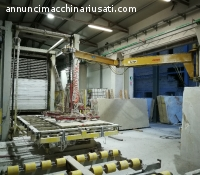 Resin line for slabs marbles and granites